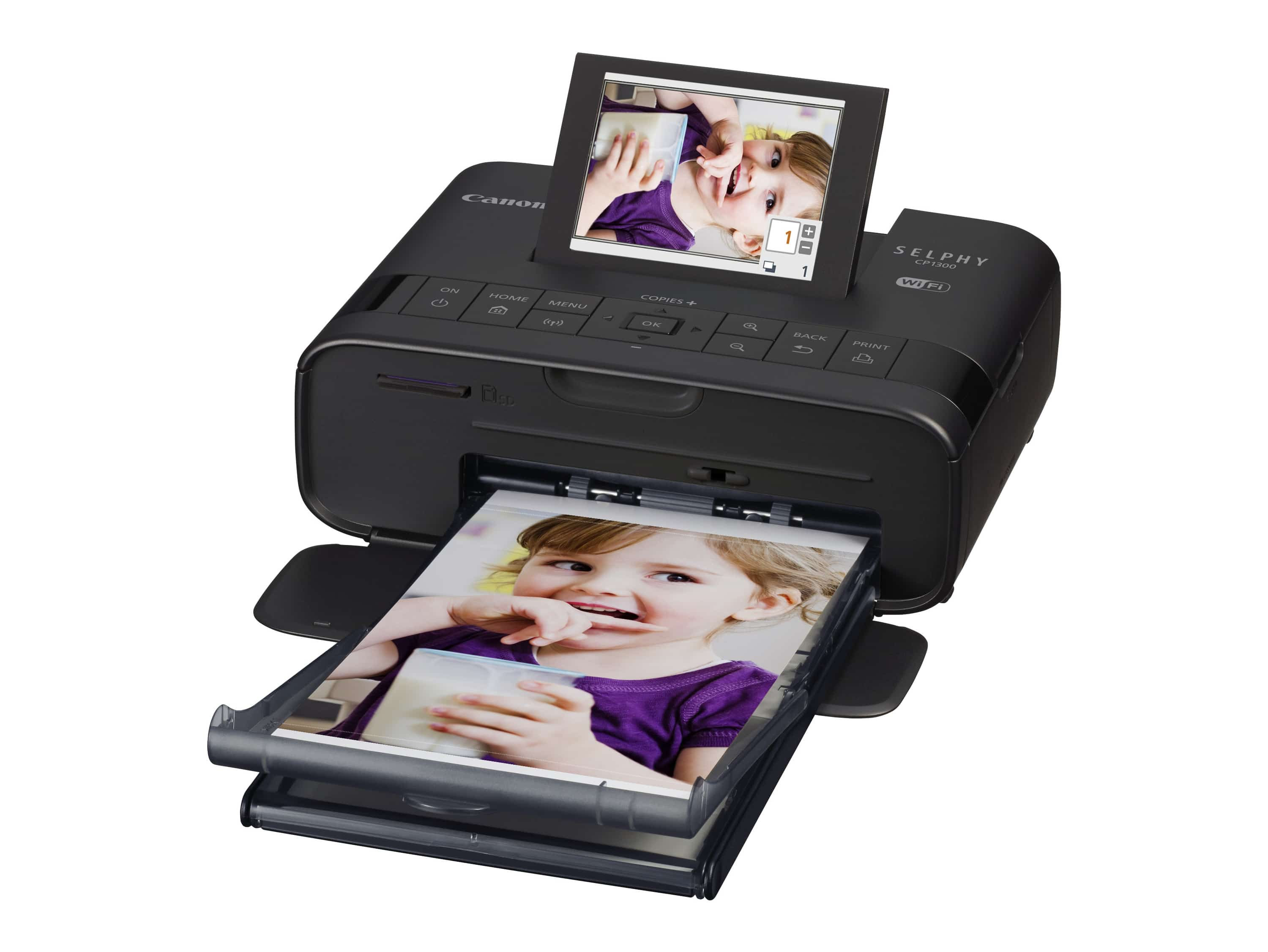 Canon SELPHY CP1300 mobiler Fotodrucker 8,1cm Display WLAN AirPrint für 126,99 Euro