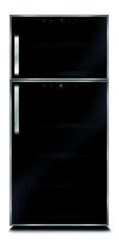 Caso WineDuett Touch 21 Weinkühlschrank zwei Kühlsysteme 21 Flaschen für 289,90 Euro