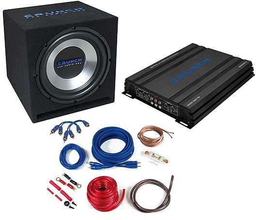 Crunch CBP-1000 All-Inclusive Bass-Paket 1000W für 199,00 Euro