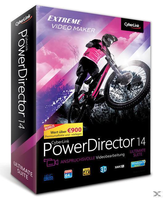 CyberLink PowerDirector 14 Ultimate Suite (PC) für 249,99 Euro