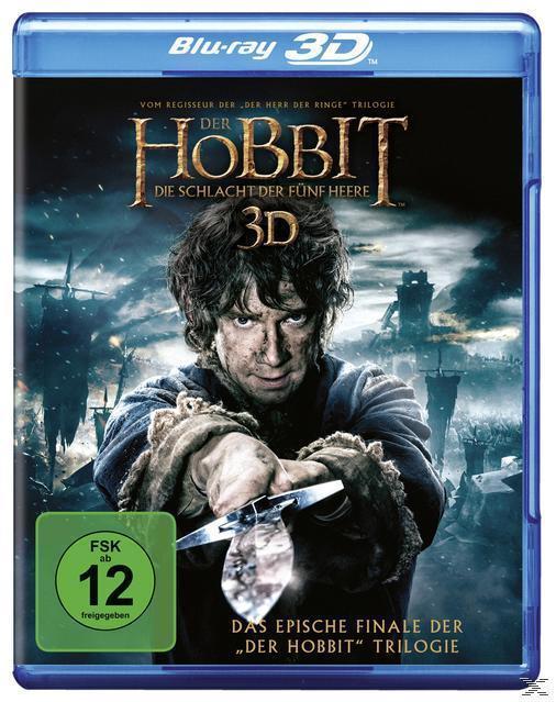 Der Hobbit: Die Schlacht der fünf Heere (BLU-RAY 3D/2D) für 9,99 Euro