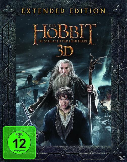 Der Hobbit: Die Schlacht der fünf Heere (BLU-RAY 3D/2D) für 29,99 Euro