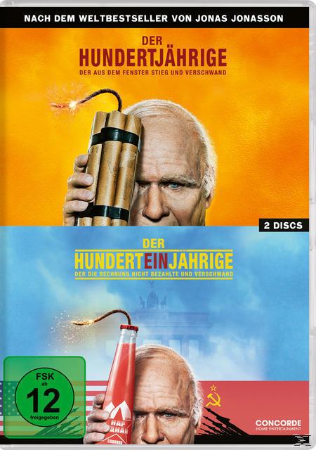 Der Hundertjährige, der aus dem Fenster stieg und verschwand / Der Hunderteinjährige, der die Rechnung nicht bezahlte und verschwand - 2 Disc DVD (DVD) für 10,99 Euro