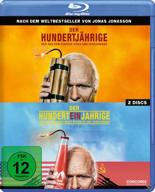 Der Hundertjährige, der aus dem Fenster stieg und verschwand / Der Hunderteinjährige, der die Rechnung nicht bezahlte und verschwand - 2 Disc Bluray (BLU-RAY) für 14,99 Euro