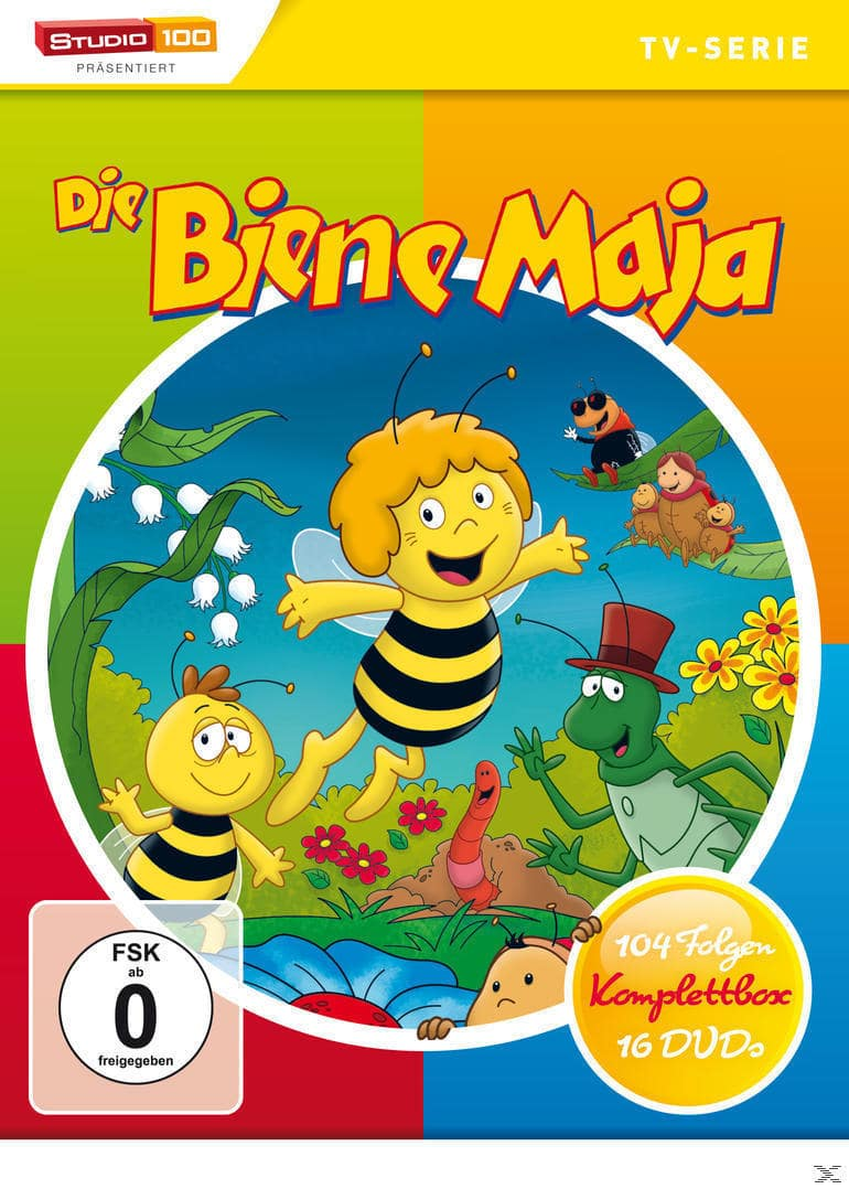 Die Biene Maja - 1. & 2. Staffel - Episode 1-104 DVD-Box (DVD) für 62,99 Euro