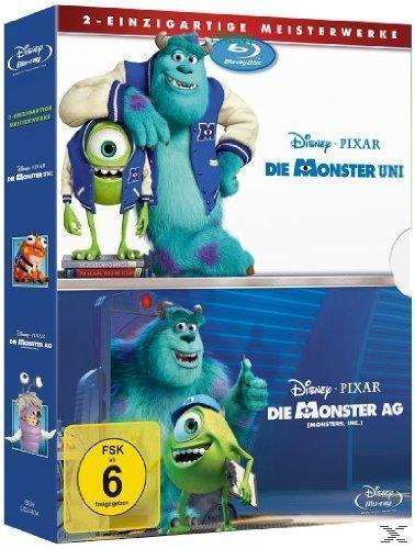 Die Monster AG / Die Monster Uni - 2 Disc Bluray (BLU-RAY) für 39,99 Euro