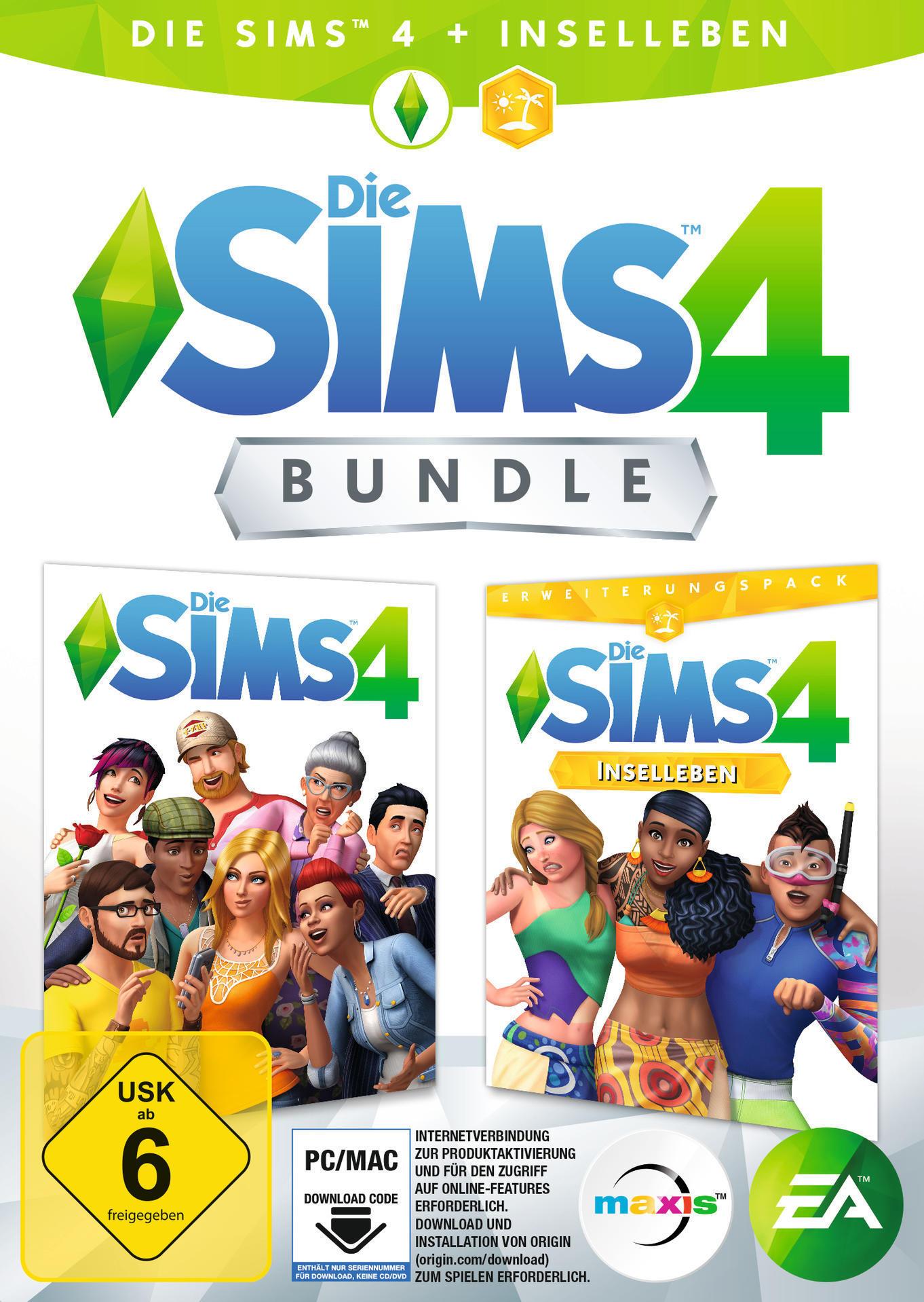 Die Sims 4 Bundle (inkl. Die Sims 4 Inselleben) (PC) für 59,99 Euro