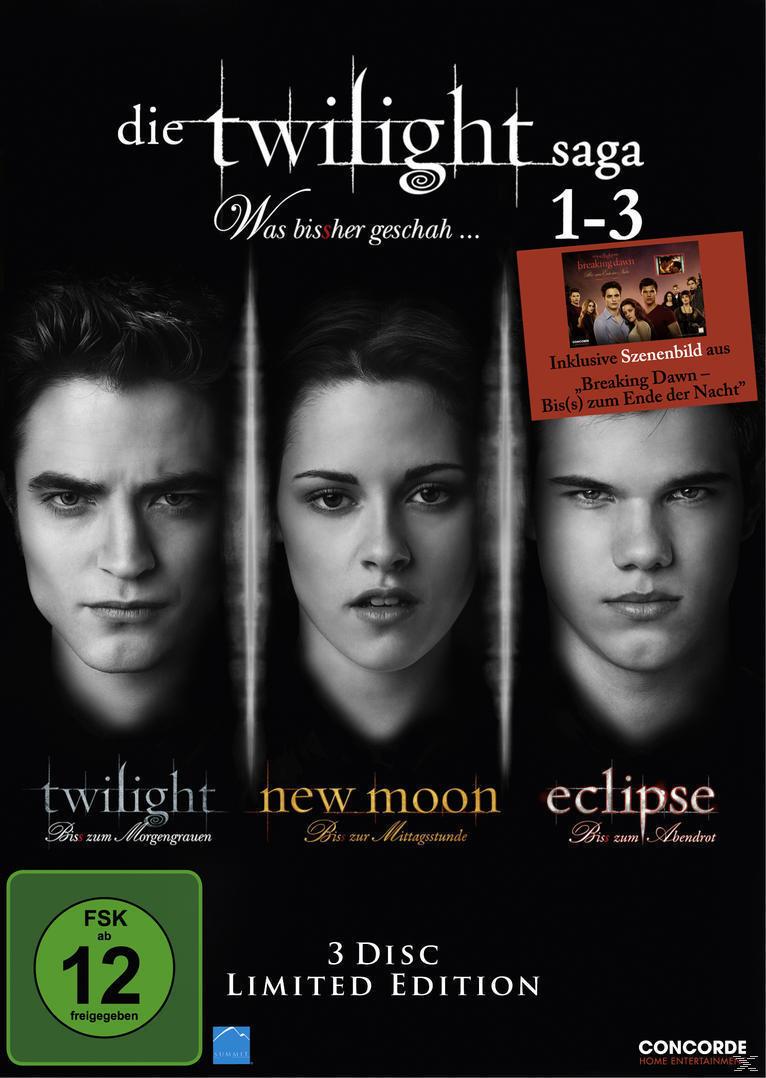 Die Twilight Saga 1-3 - Was bis(s)her geschah (DVD) für 7,99 Euro