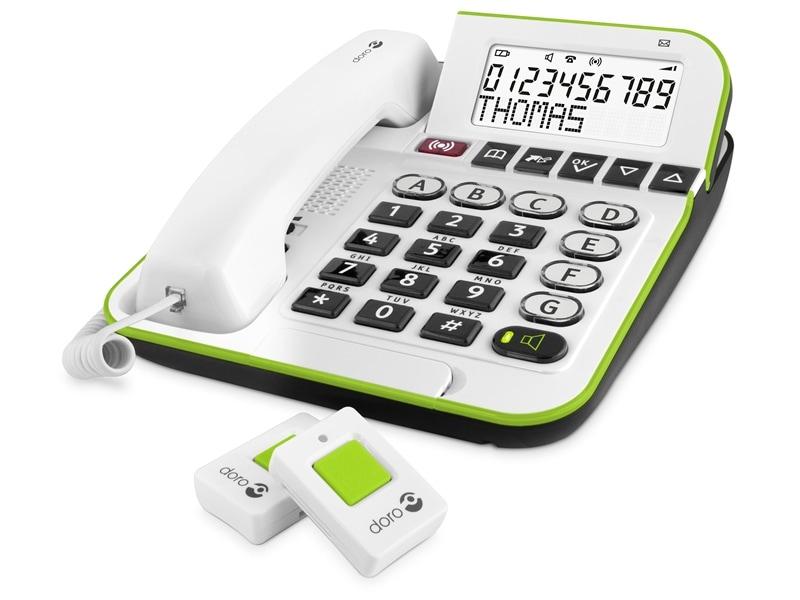 Doro Secure 350 schnurgebundenes Großtastentelefon 2 Notruf-Alarmgeber für 119,99 Euro