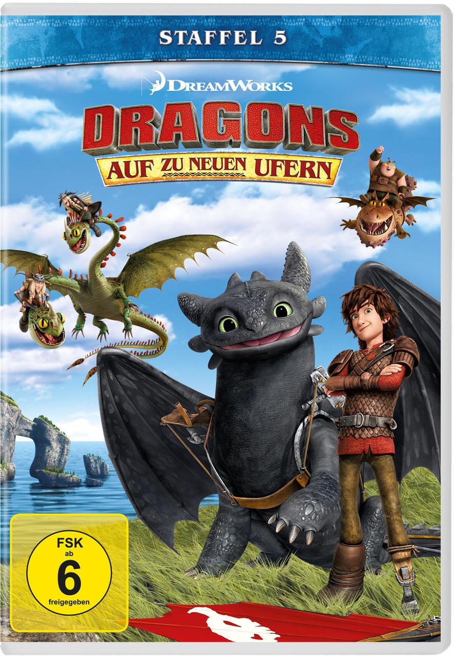 Dragons - Auf zu neuen Ufern - Staffel 5 (DVD) für 19,99 Euro