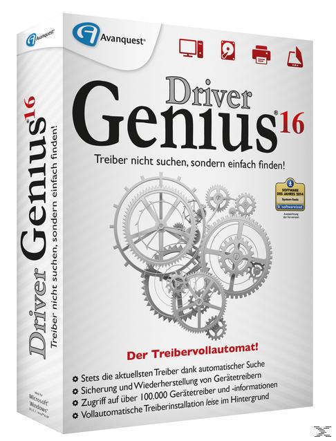 Driver Genius 16 (PC) für 24,99 Euro
