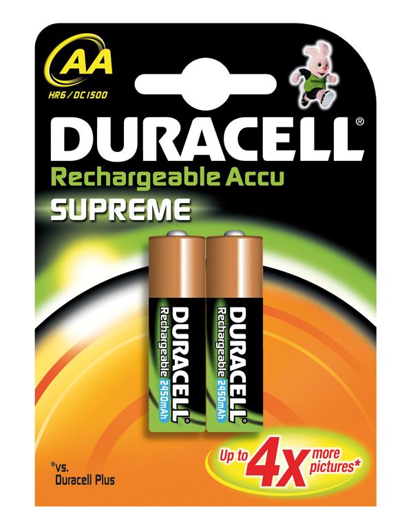 Duracell AA Supreme (2pcs) für 9,99 Euro