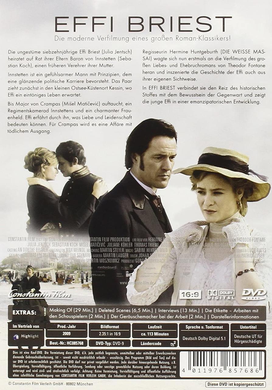 Effi Briest (DVD) für 8,76 Euro