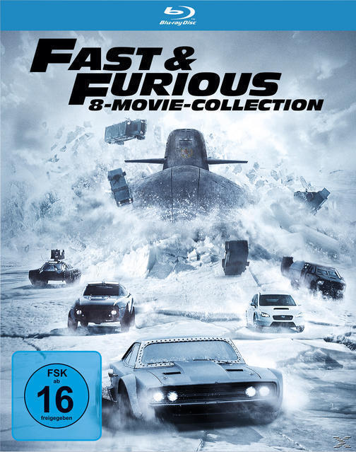Fast & Furious - 8 Movie Collection BLU-RAY Box (BLU-RAY) für 27,99 Euro