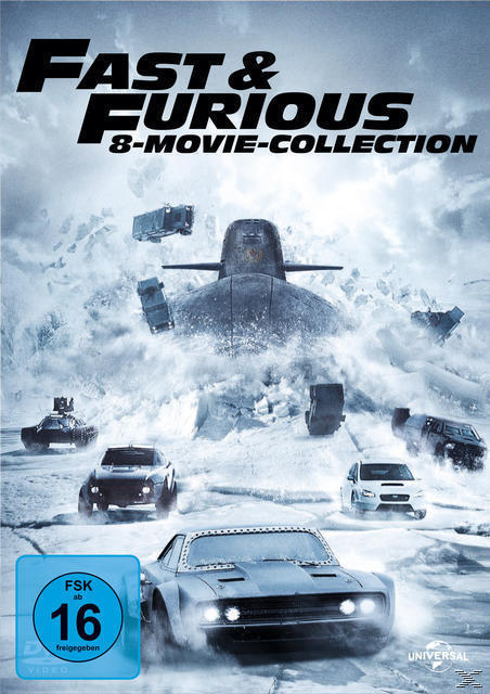 Fast & Furious - 8 Movie Collection DVD-Box (DVD) für 24,99 Euro