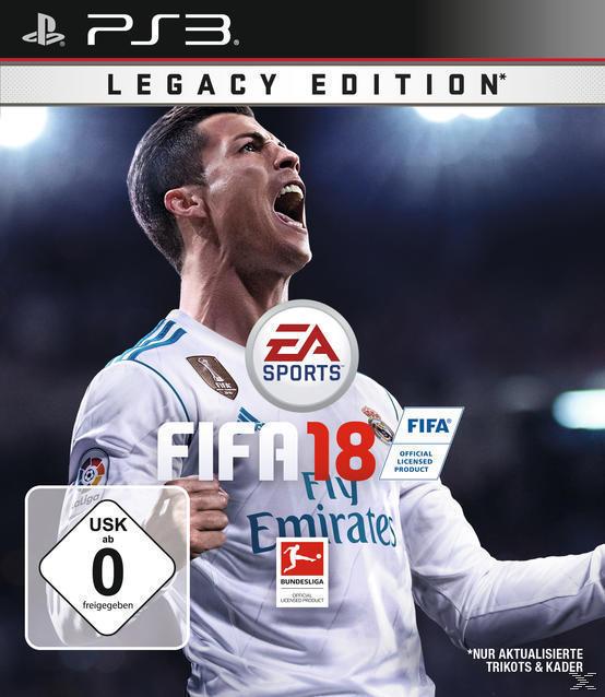 FIFA 18 - Legacy Edition (Playstation3) für 34,99 Euro