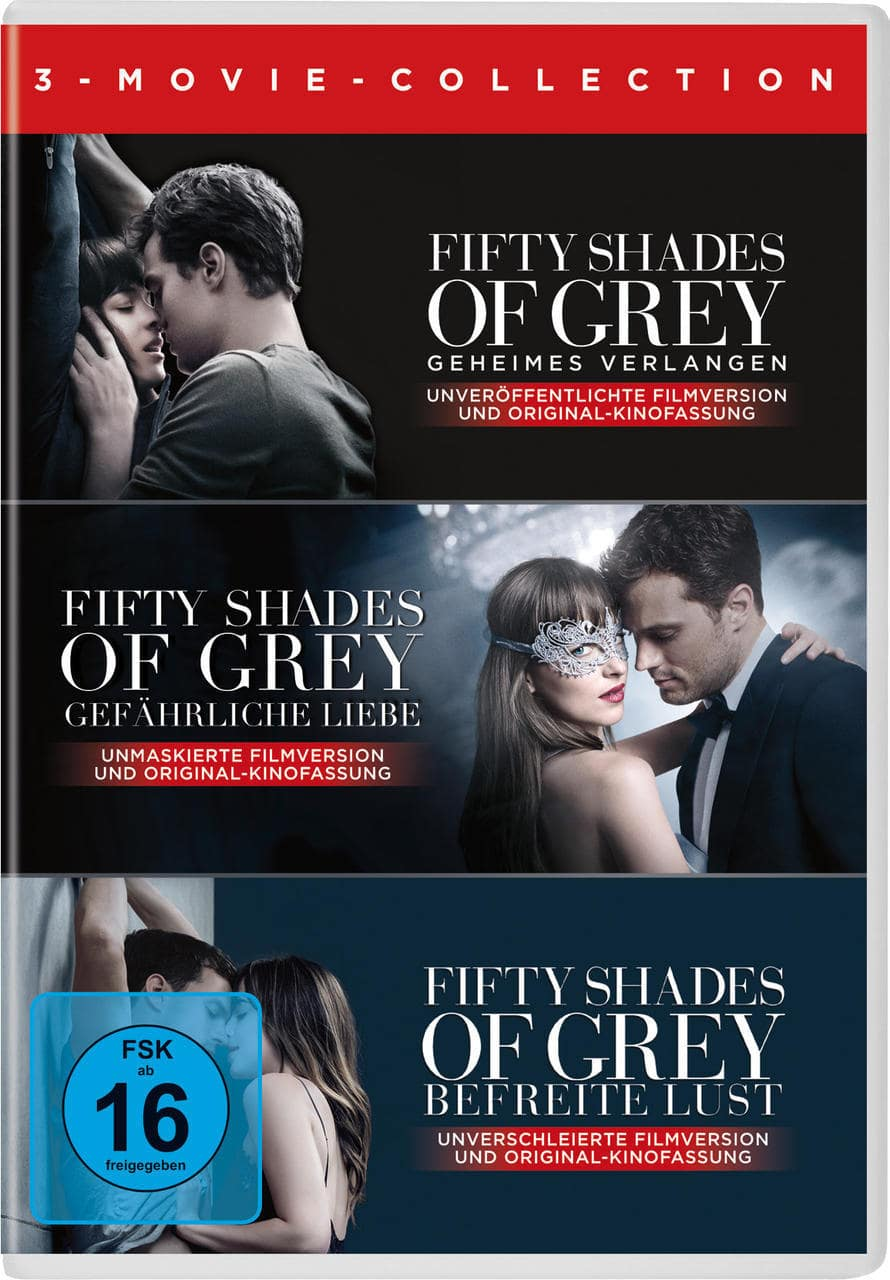 Fifty Shades of Grey 1-3 Movie Edition (DVD) für 21,99 Euro