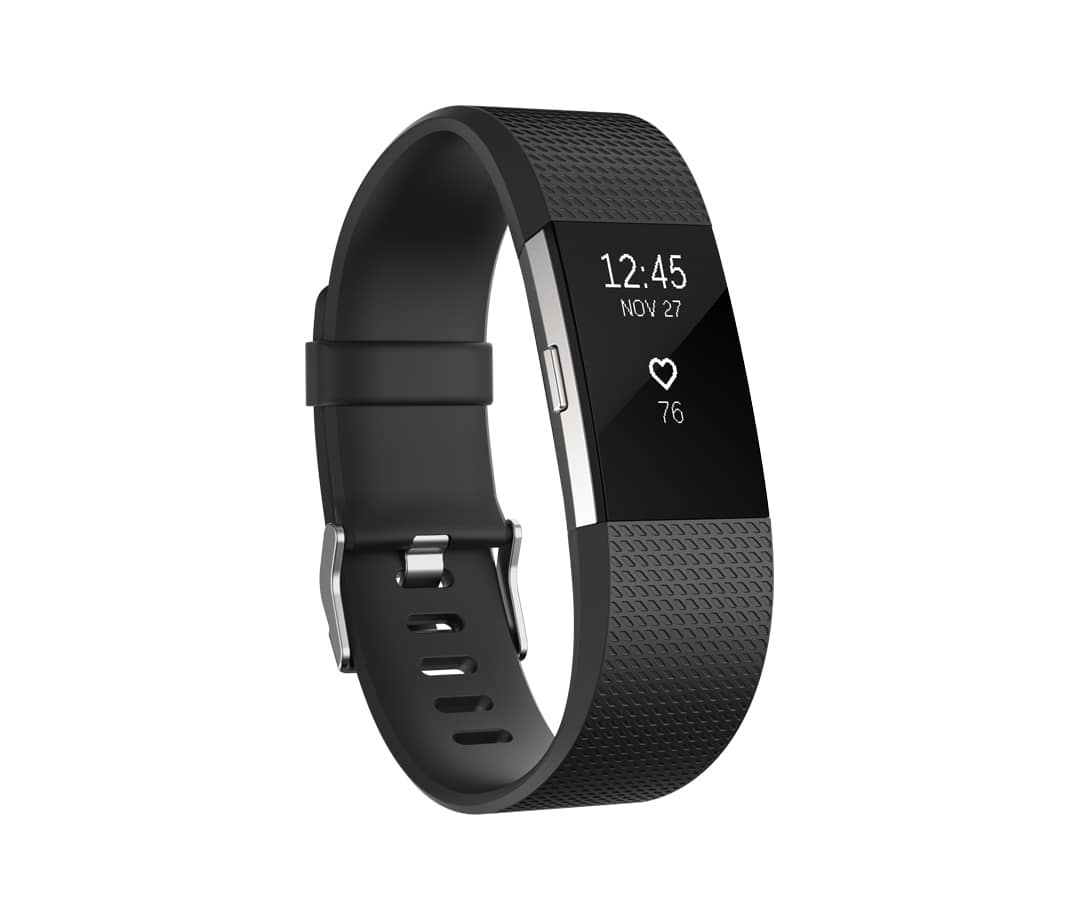 Fitbit Charge 2 large Fitness-Tracker Touch-Display Herzfrequenz-Messung für 127,99 Euro