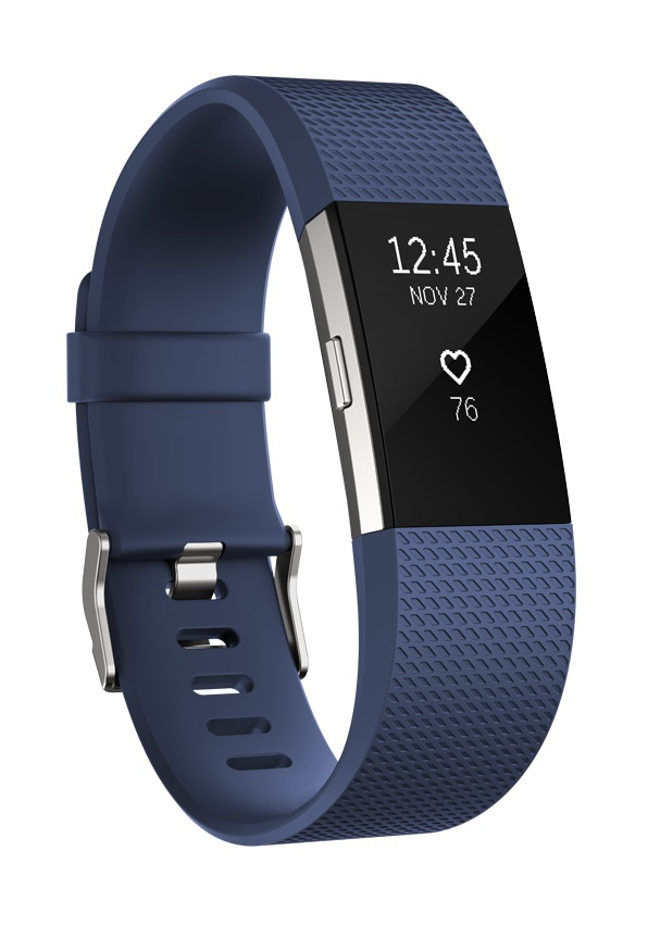 Fitbit Charge 2 large Fitness-Tracker Touch-Display Herzfrequenz-Messung für 124,99 Euro