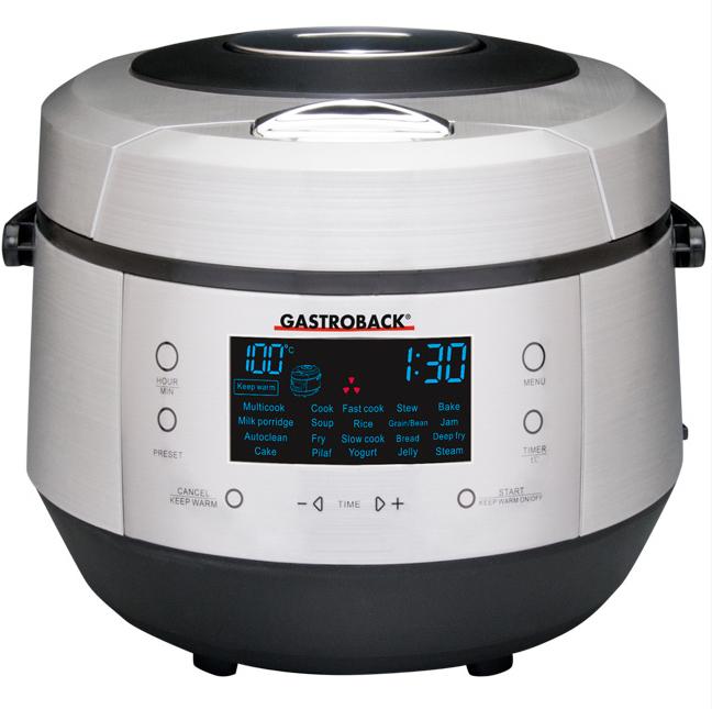 Gastroback 42526 Multifunktionskocher 5l 20 Programme Sensor Touch-Tasten für 139,99 Euro