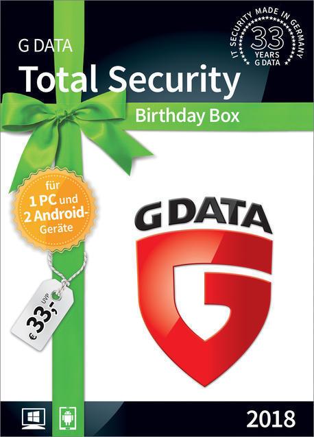 GD Total Security 2018 1+2 (PC) für 29,99 Euro