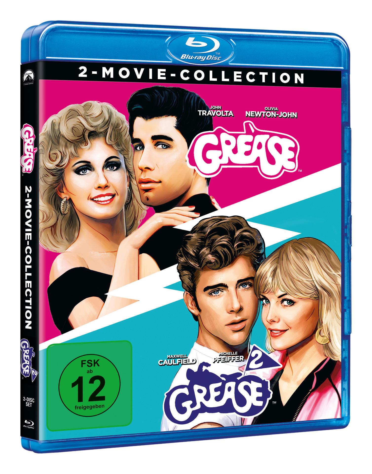 Grease + Grease 2 - 2 Disc Bluray (BLU-RAY) für 14,61 Euro