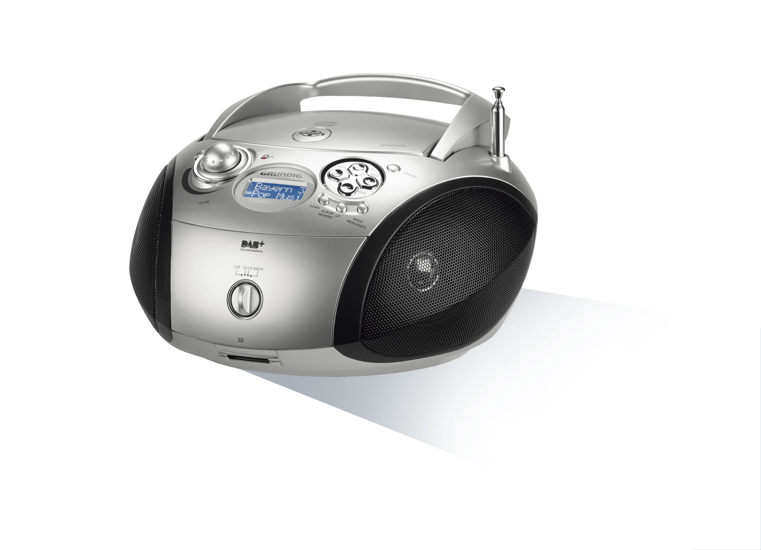 Grundig RCD 1460 Boombox DAB+ UKW CD MP3-CD für 109,99 Euro