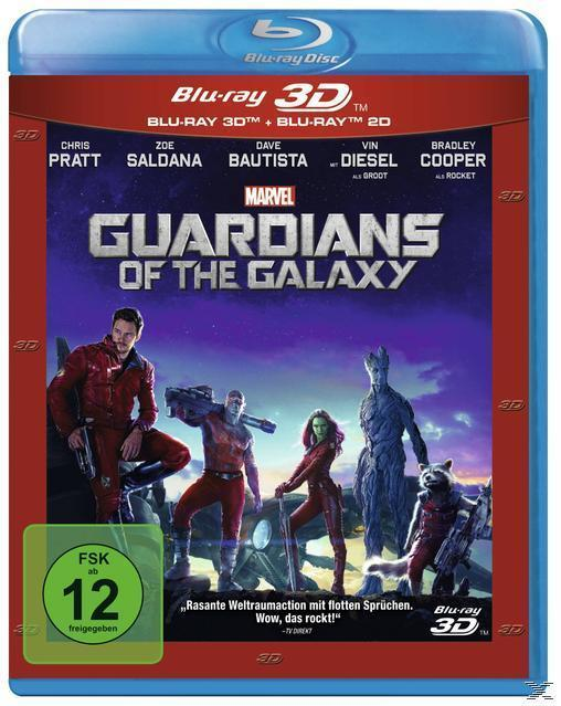 Guardians of the Galaxy - 2 Disc Bluray (BLU-RAY 3D/2D) für 14,99 Euro