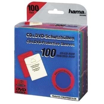 CD/DVD Protective Sleeves 100 für 10,99 Euro