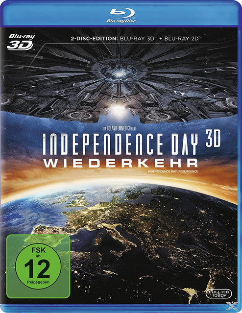 Independence Day: Wiederkehr - 2 Disc Bluray (BLU-RAY 3D/2D) für 21,00 Euro