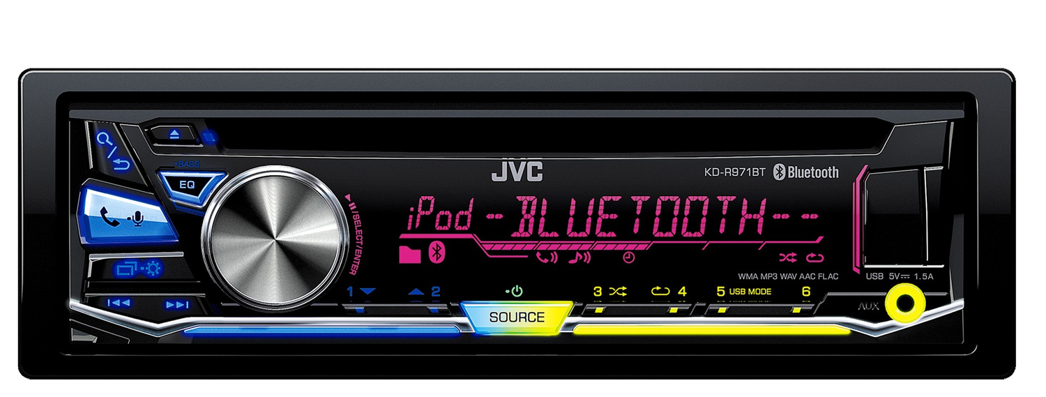 JVC KDR971BT Autoradio CD UKW RDS USB AUX-IN Loudness-Funktion für 119,00 Euro