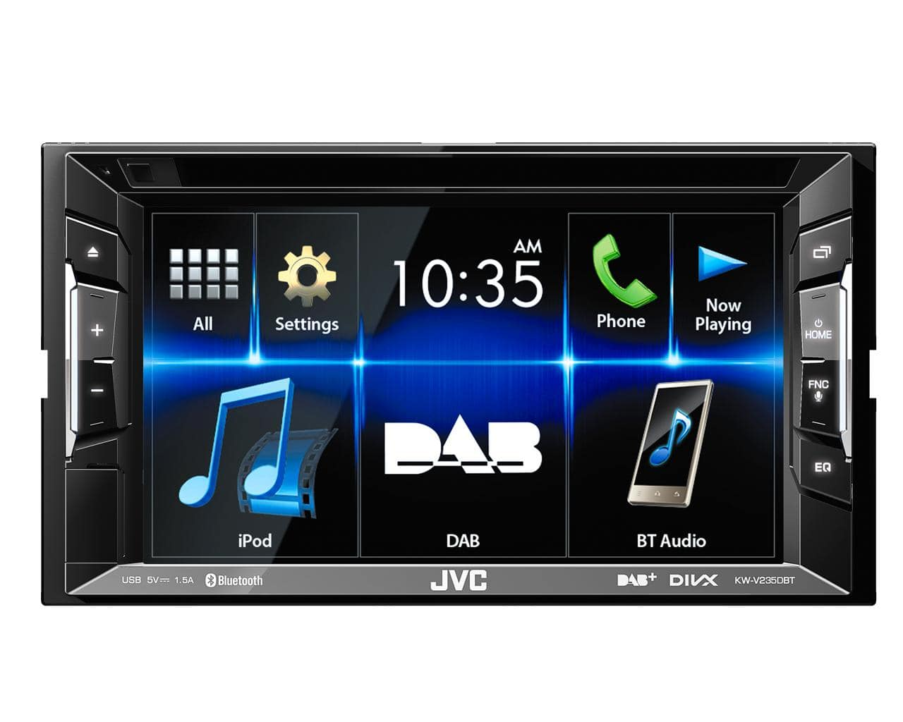 JVC KW-V235DBT Autoradio 15,7cm/6,2'' Touch-Panel DAB+ CD Bluetooth für 339,00 Euro