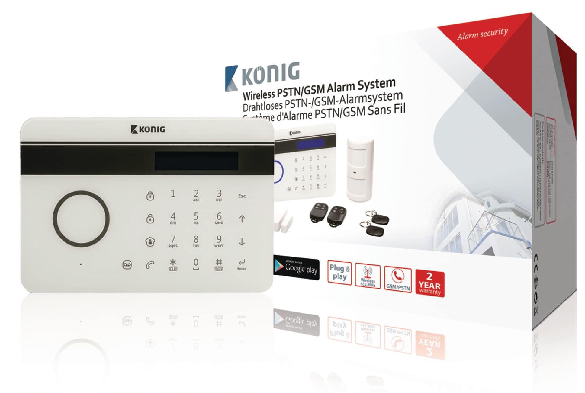 König SAS-ALARM300 drahtloses Festnetz-/GSM-Alarmsystem für 149,99 Euro