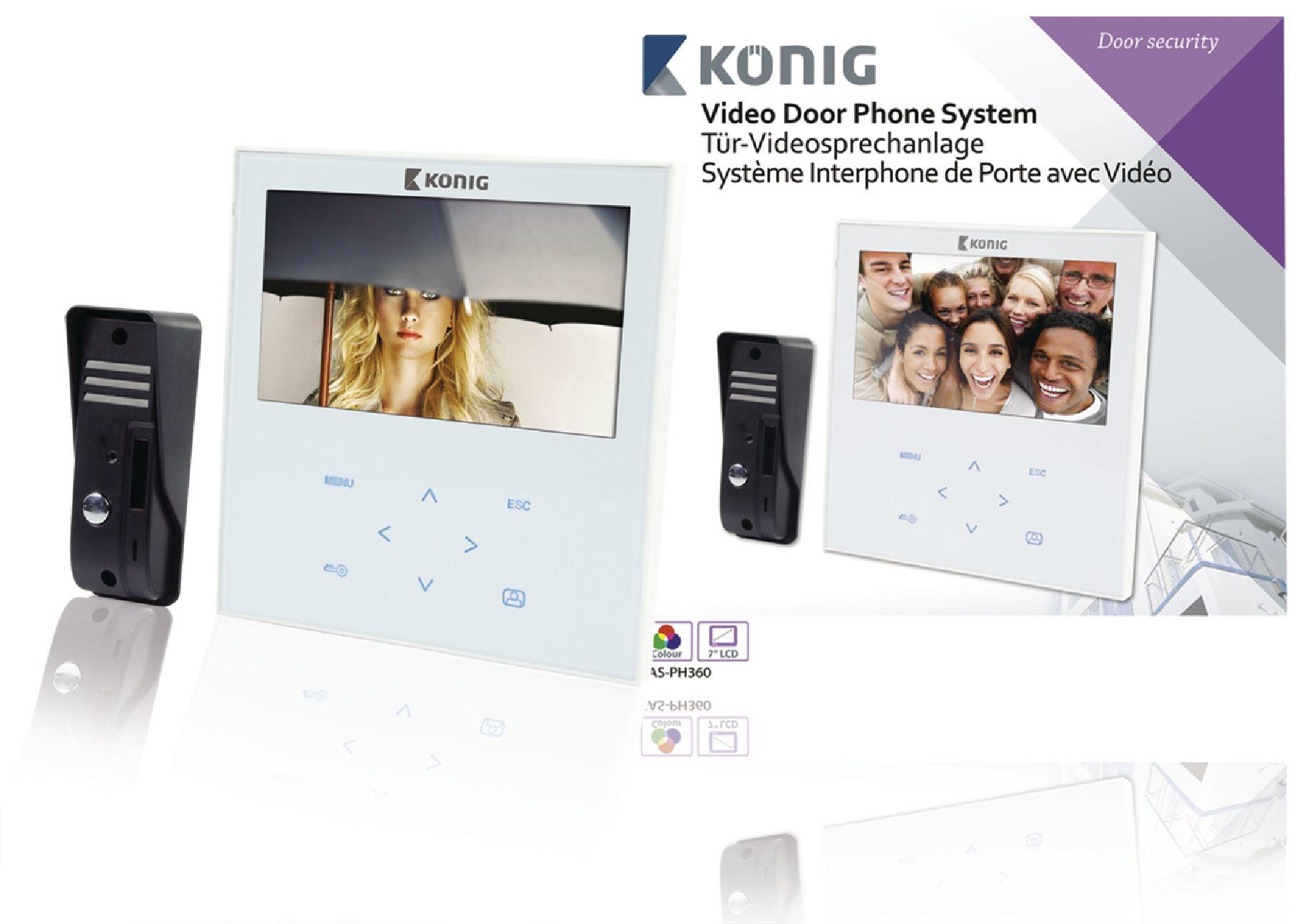 König SAS-PH360 Tür-Videosprechanlage für 154,99 Euro