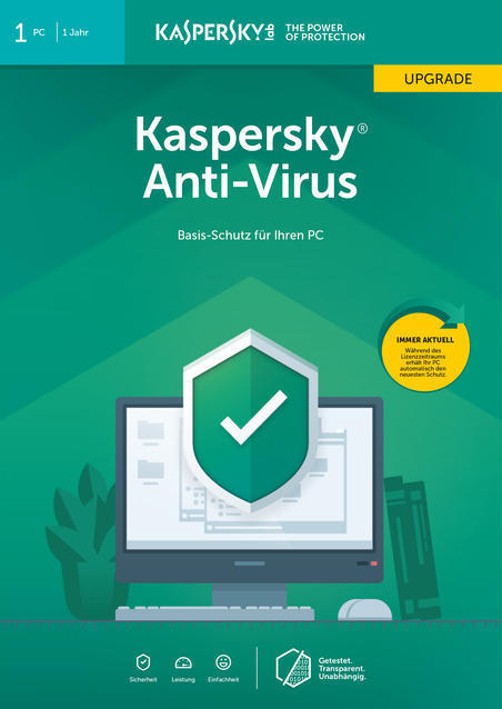 Kaspersky Anti-Virus Upgrade (Code in a Box) (PC) für 16,99 Euro