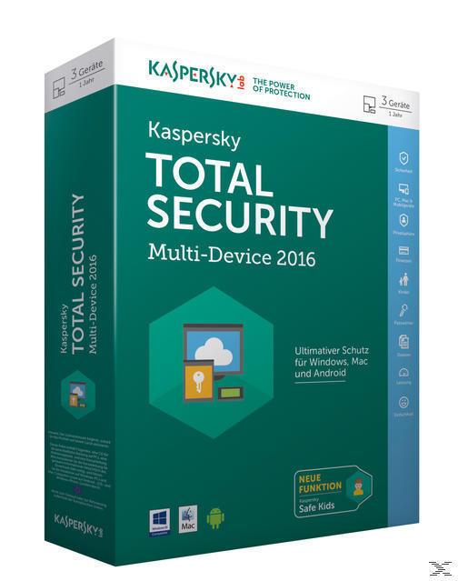 Kaspersky Total Security Multi-Device 2016 (PC) für 55,00 Euro