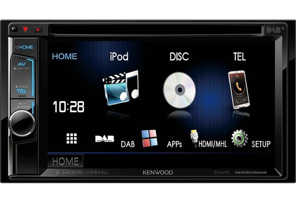 Kenwood DDX5016DAB Doppel-DIN-Autoradio 15,7cm DAB DVD USB Bluetooth für 359,00 Euro