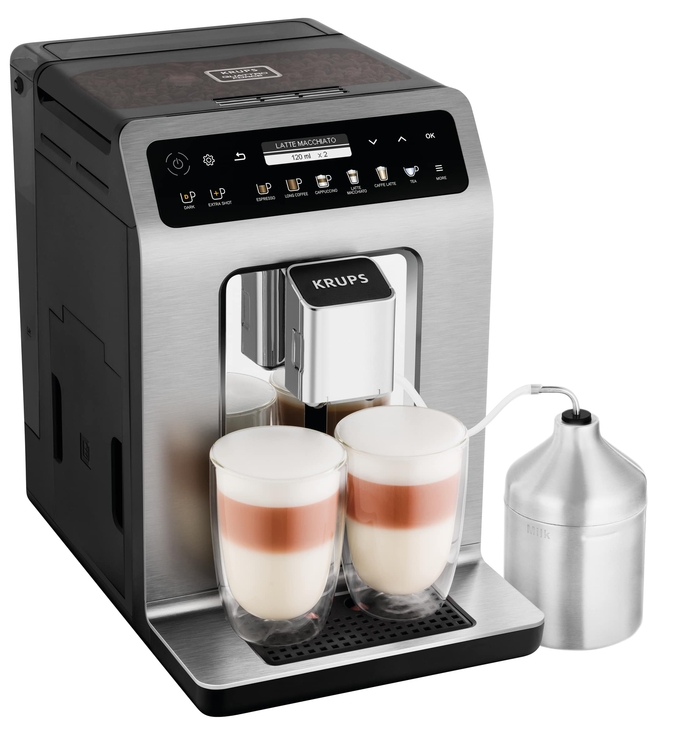 Krups EA 894T Evidence Plus One-Touch-Cappuccino Kaffeevollautomat für 840,00 Euro