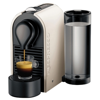 Krups XN 2501 A U Pure Cream Nespressoautomat 19bar 0,8l + Welcome-Package für 112,99 Euro