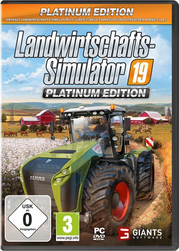 Landwirtschafts-Simulator 19 Platinum Edition (PC) für 34,99 Euro
