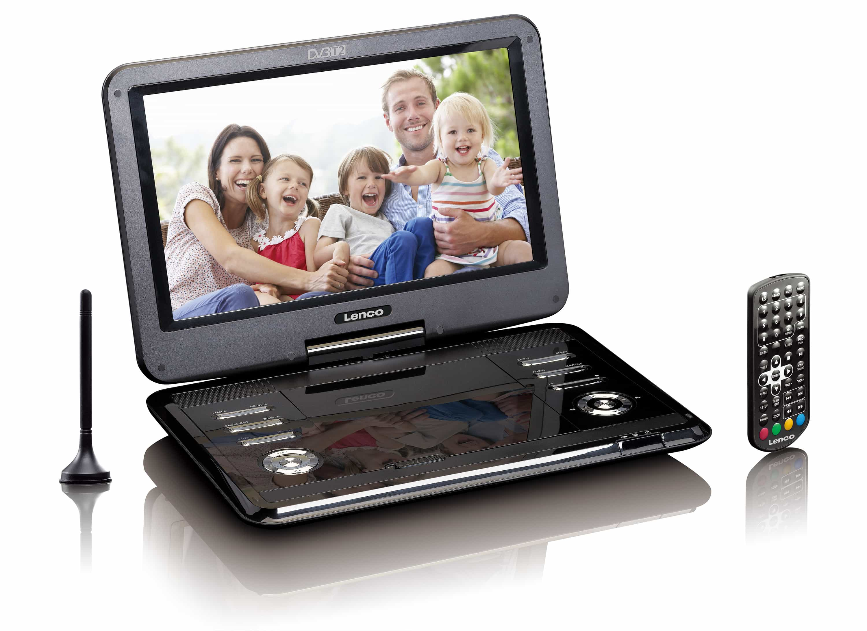 Lenco DVP-1273 portabler DVD-Player 29cm/11,6'' DVB-T2 HD USB SD 12V für 189,99 Euro