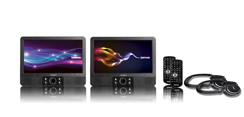 """Lenco DVP-9378 2x 9"""" TFT-Display mit DVD-Player für 229,00 Euro"""