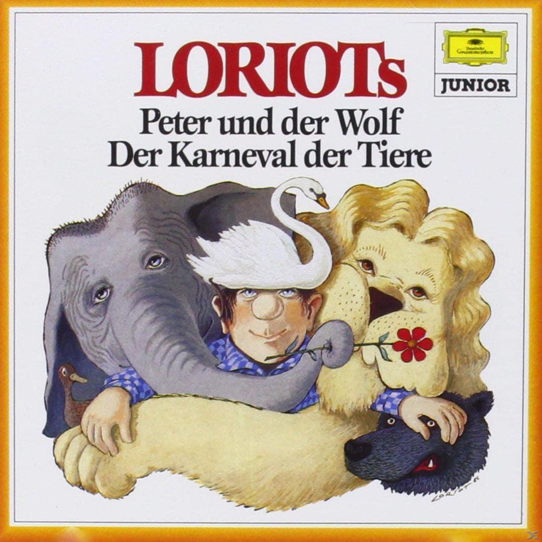 Loriots Peter und der Wolf / Karneval der Tiere (CD(s)) für 8,49 Euro