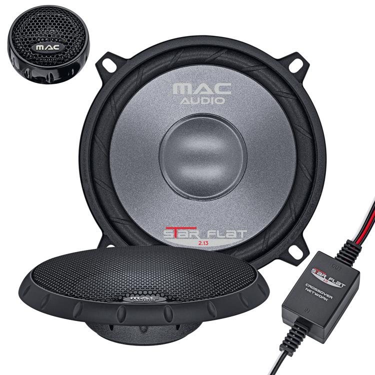 Mac Audio Star Flat 2.13 Auto-Lautsprecher 2-Wege Kompo-System 80/280W für 129,00 Euro