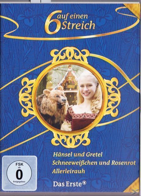 Märchenbox Volume 9 - Sechs auf einen Streich: Hänsel und Gretel, Schneeweißchen und Rosenrot, Allerleirauh DVD-Box (DVD) für 17,99 Euro