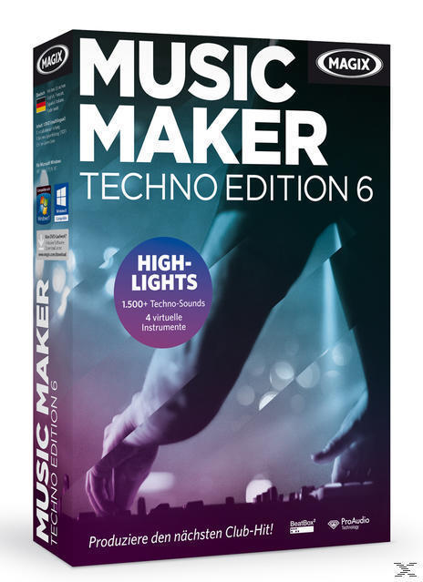 MAGIX Music Maker Techno Edition 6 (PC) für 29,99 Euro