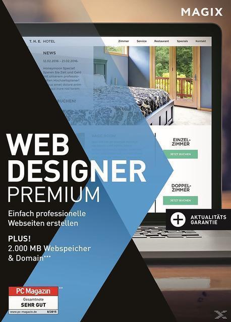 MAGIX Web Designer 12 Premium (PC) für 84,99 Euro