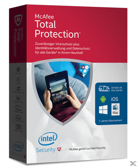 McAfee Total Protection 2016 Unlimited Devices (Code in a Box) (PC) für 42,99 Euro