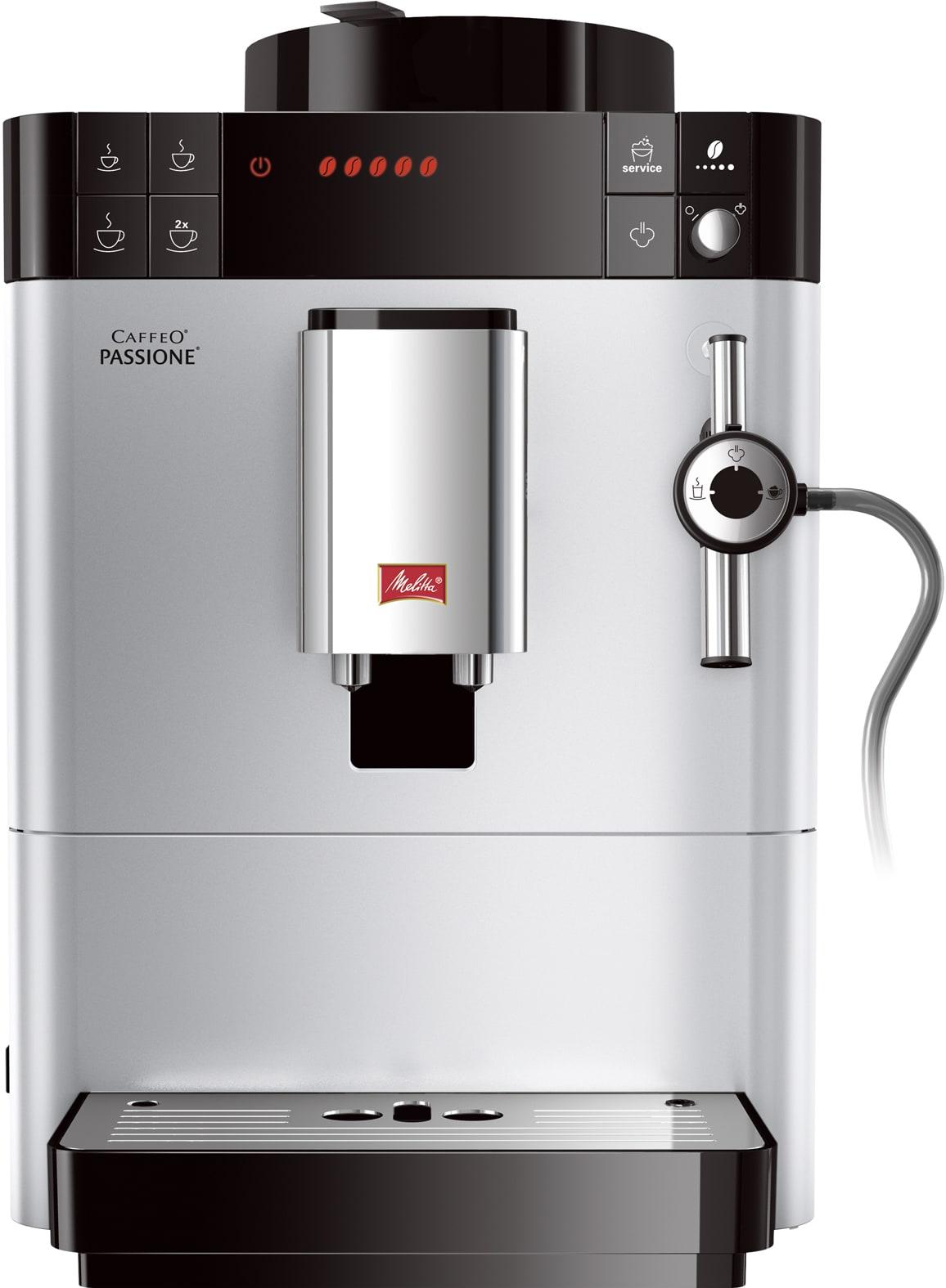 Melitta Caffeo Passione F53/0-101 Kaffeevollautomat 1,2l Stahl-Kegelmahlwerk für 444,00 Euro