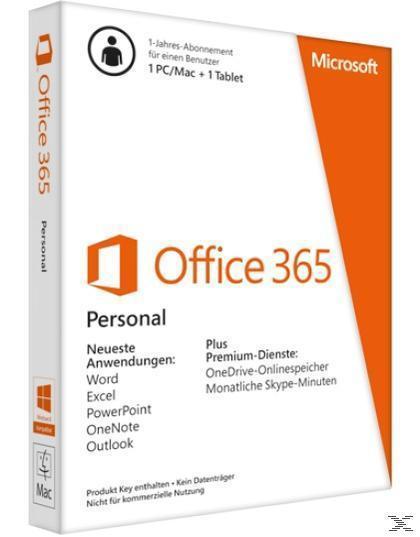 MS Office 365 Personal Abonnement - 1 Jahr (PC) für 69,00 Euro